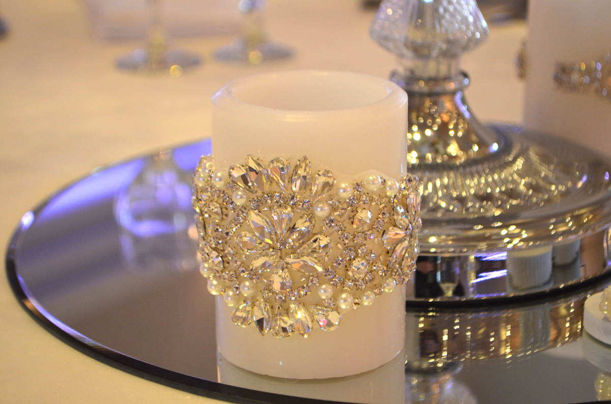Swarovski Crystal Encrusted Led Candle