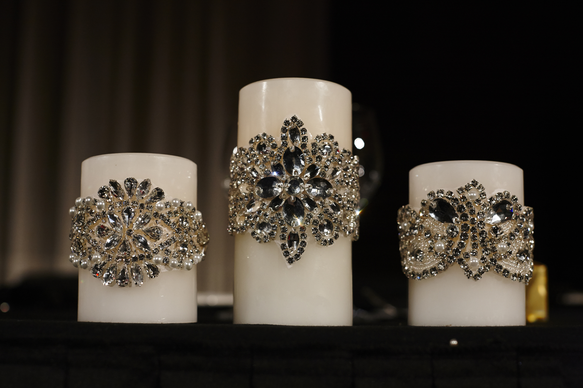 Swarovski crystal Encrusted Led candles