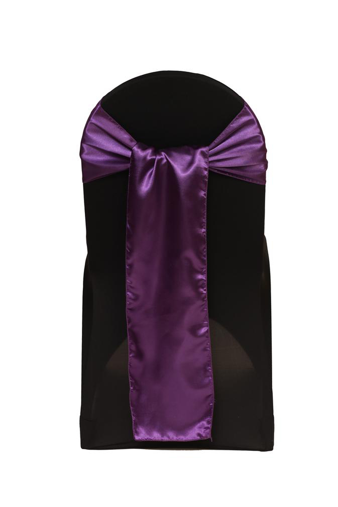 Cadbury Purple Satin Chair Sash