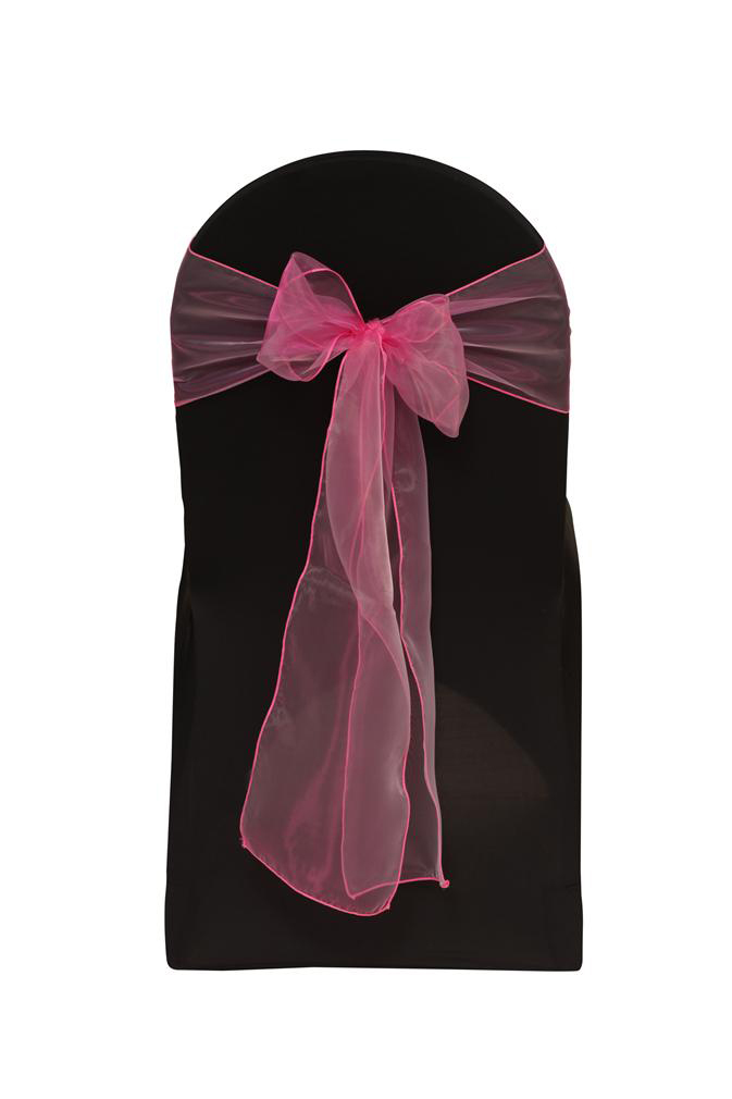 Hot Pink Organza Chair Sash