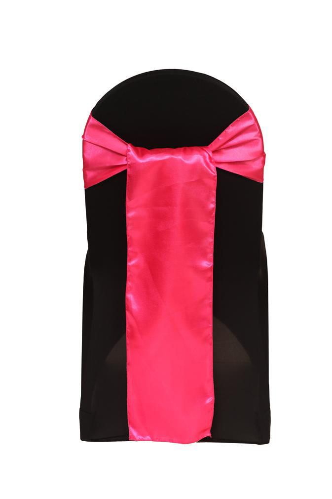 Hot Pink Satin Chair Sash