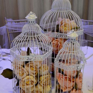 Set-of-3-white-bird-cage-with-artificial-peony's-1.1