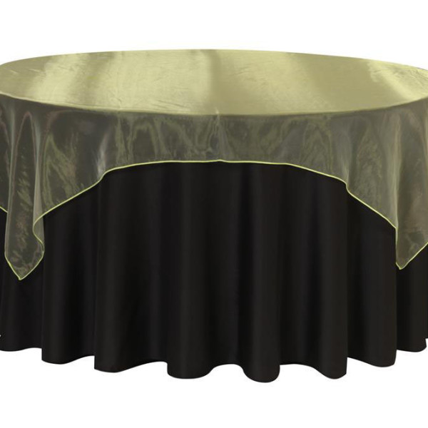 Apple Green Organza Table Overlay