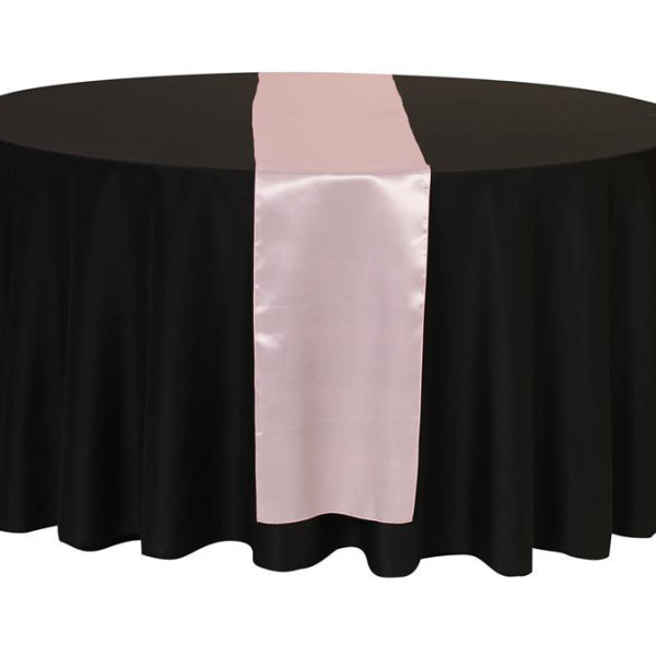 Baby Pink Satin Table Runner