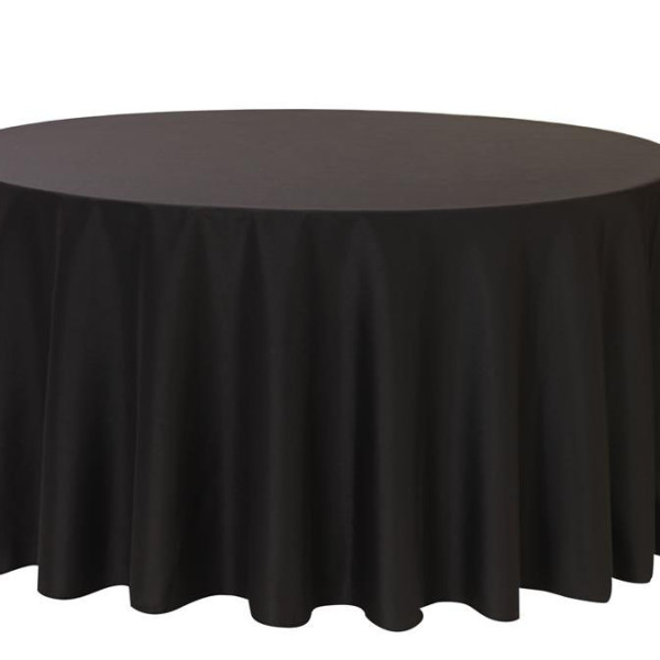 Black Linen Round Table Cloth 3m x 3m
