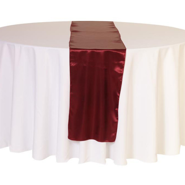 Burgendy Satin Table Runner