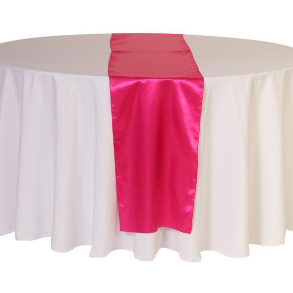 Hot Pink Satin Table Runner
