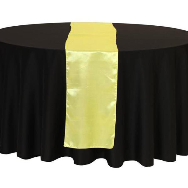 Lemon Yellow Satin Table Runner