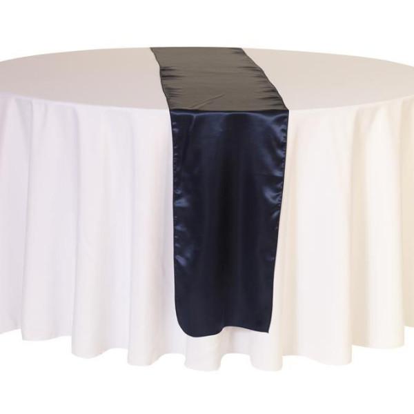 Navy Satin Table Runner
