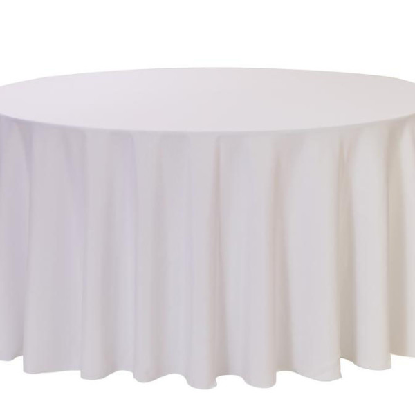 White Round Linen Table Cloth 3m x 3m