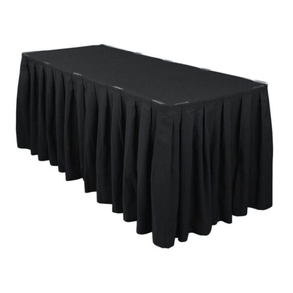 Black table skirting